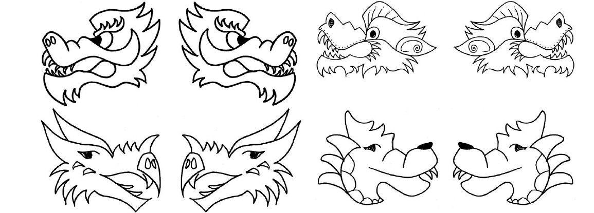 Chinese Dragon Puppet Chinese New Year Dragon Dragon Puppet Dragon Pattern