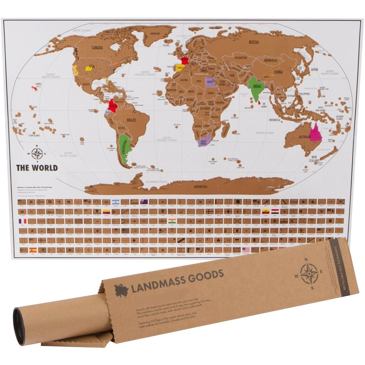 Scratch Off World Travel Tracker Map Scratch Your Travels US - Us states i ve been to map