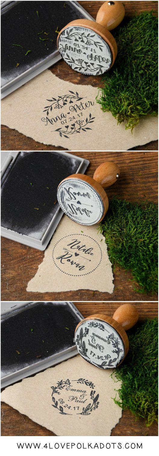 Wedding planning Wooden wedding custom stamps u2013personalized