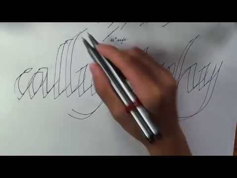 HOW TO WRITE CALLIGRAPHY WITH A NORMAL PEN - YouTube
