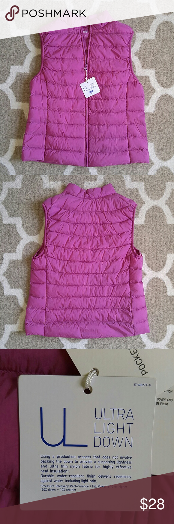 Uniqlo ultra light down puffer look vest Uniqlo jackets