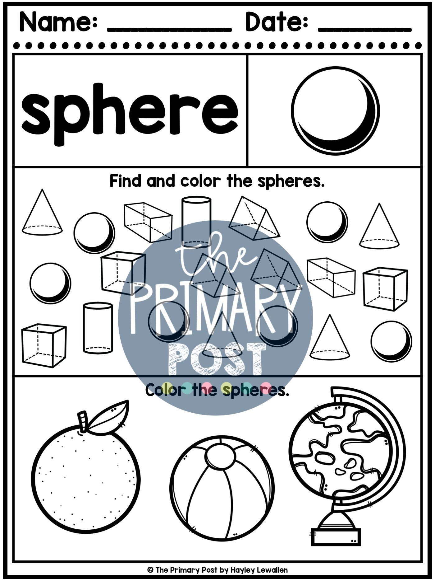 3d Shapes Worksheets Shapes Worksheets 3d Shapes Worksheets Teaching Shapes [ 1867 x 1400 Pixel ]