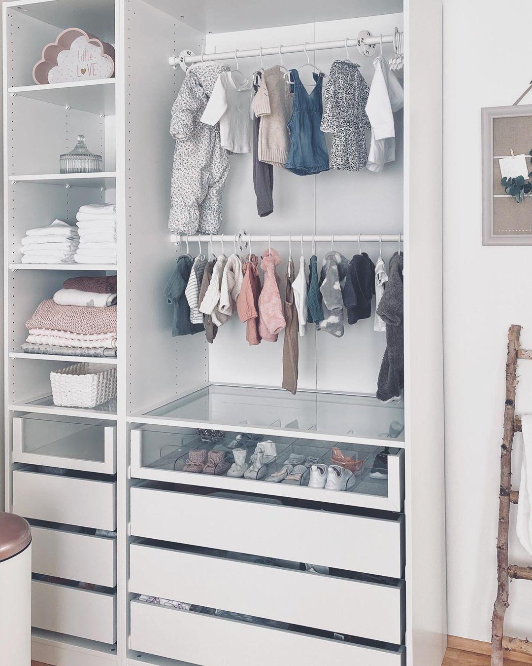 Baby wardrobe  . . . . . #babykleidung #babykleiderschrank #babywardrobe #pax #i…