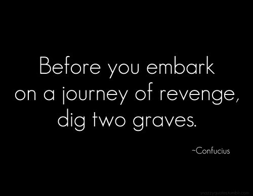 Before You Embark On Your Journey Of Revenge, Consider This..