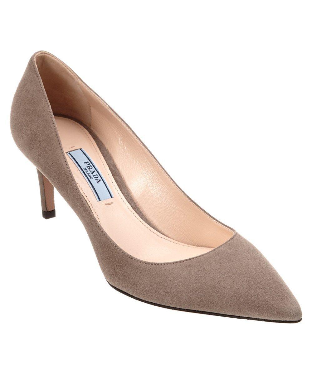 eb1dd456f PRADA Prada Suede 65 Pointy-Toe Pump'. #prada #shoes #pumps & high heels