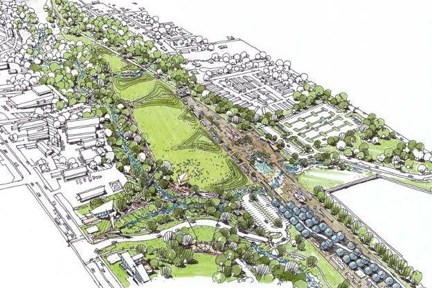 News Indiana Public Media Switchyard Park Master Plan Revealed Urban Park Master Plan Park