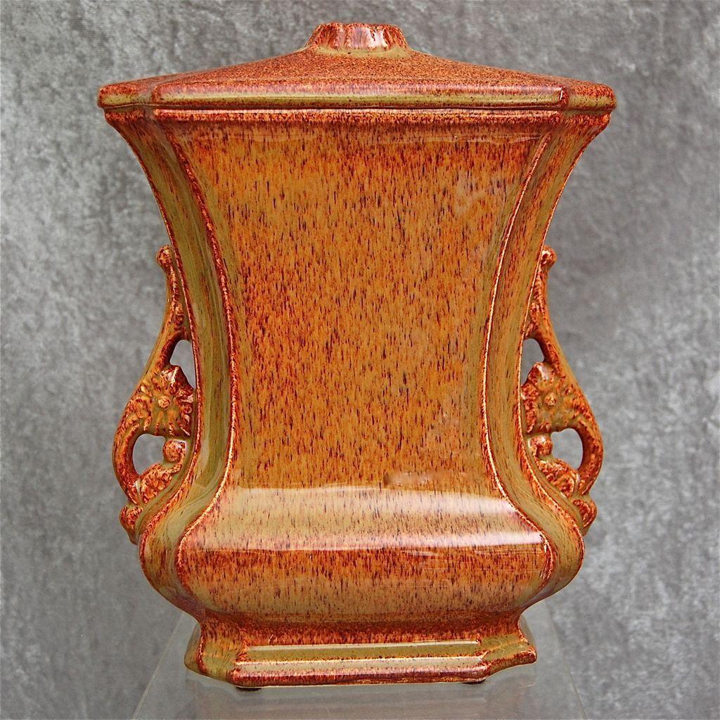 "Cowan Pottery ""Logan"" Factory Lamp Base, ""Foliage"" Glaze, Circa 1925"