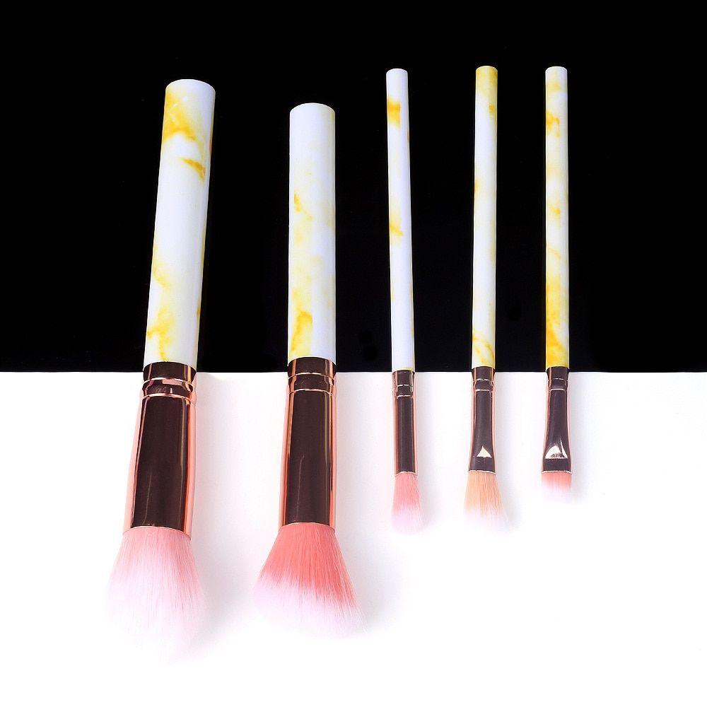 5/10/15 Stück Marmor Make-Up Pinsel Werkzeug Natürliche Pinsel Set Kit Professionelle Pulver Kleine Hohe Qualität Highlighter Lip Lidschatten – 5pcs-365458