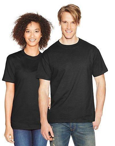 0f49b4e73b1a93 6 Hanes Beefy-T Short-Sleeve Black T-Shirt Mens Size S-6XL Wholesale  Pricing…
