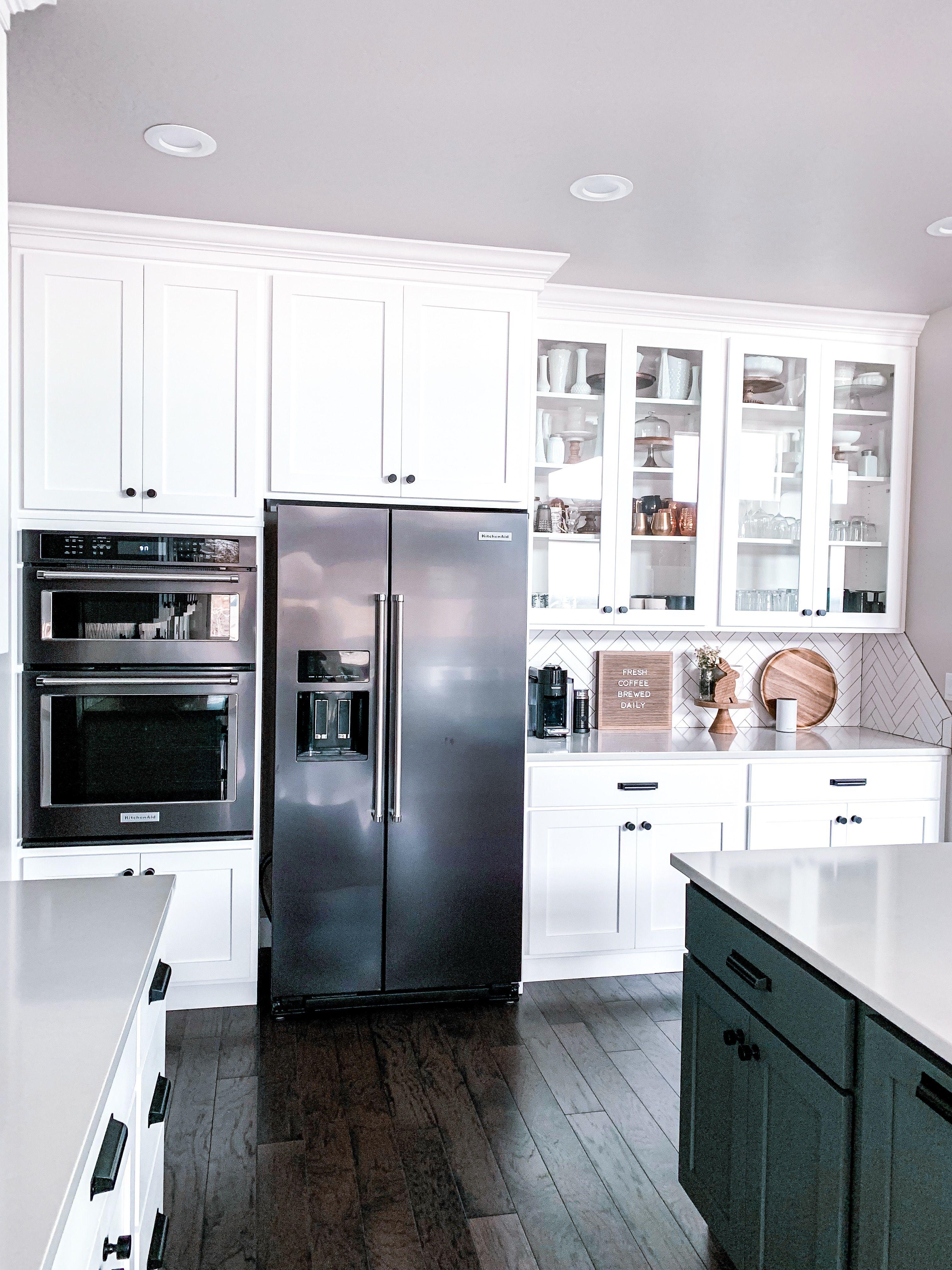 Our kitchen   White kitchen appliances, Kitchen remodel small ...