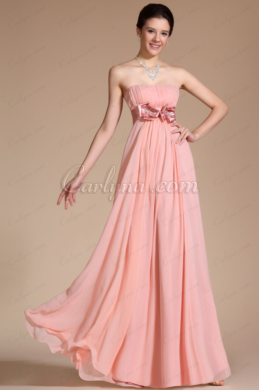 Carlyna 2014 New Simple Elegant Light Pink Strapless Evening Dress ...