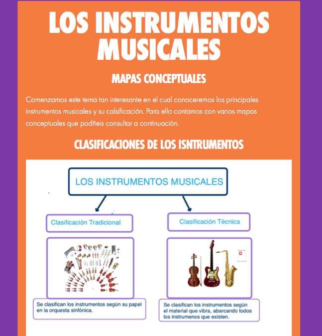 Instrumentos Musicales, clasificación tradicional
