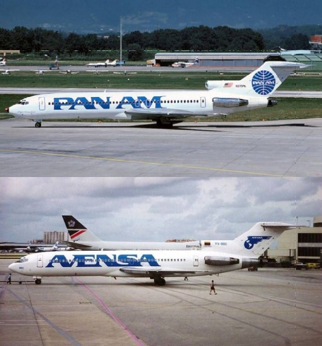 Comparación del livery de Pan Am con el de Avensa Comparison