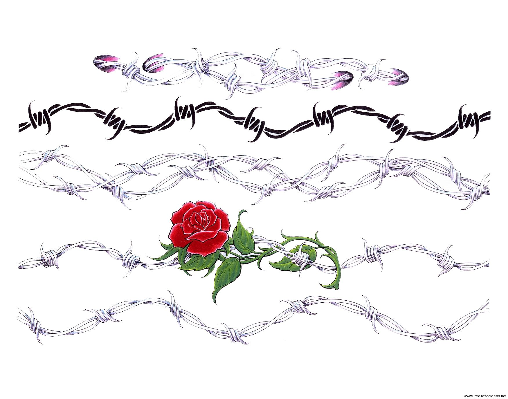 I low the rose mixes with the barbed wire. | Tattoos | Pinterest ...