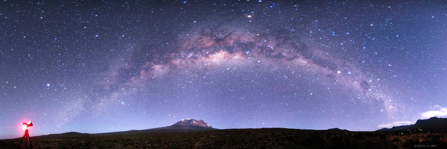 We cannot get enough of this #timelapse video of #Kilimanjaro at night! #Travel #MilkyWay