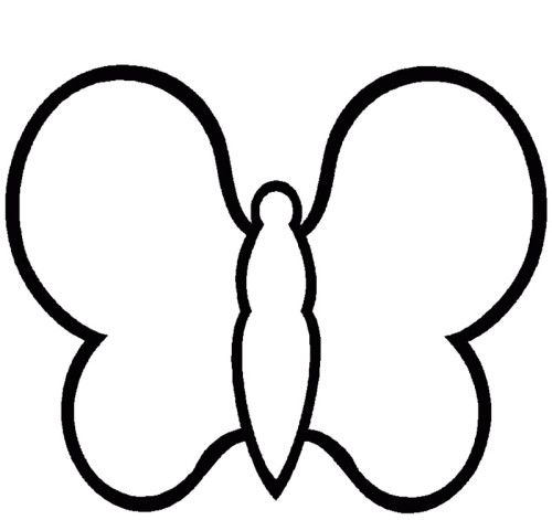Printable Simple Butterfly Coloring Pages