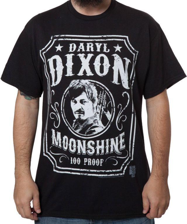 Darryl Dixon Moonshine T-Shirt - Walking Dead T-Shirt