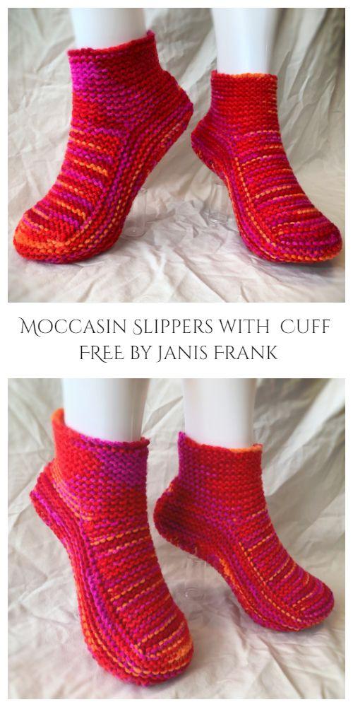 Moccasin Slippers Free Knitting Pattern - Knitting Pattern ...