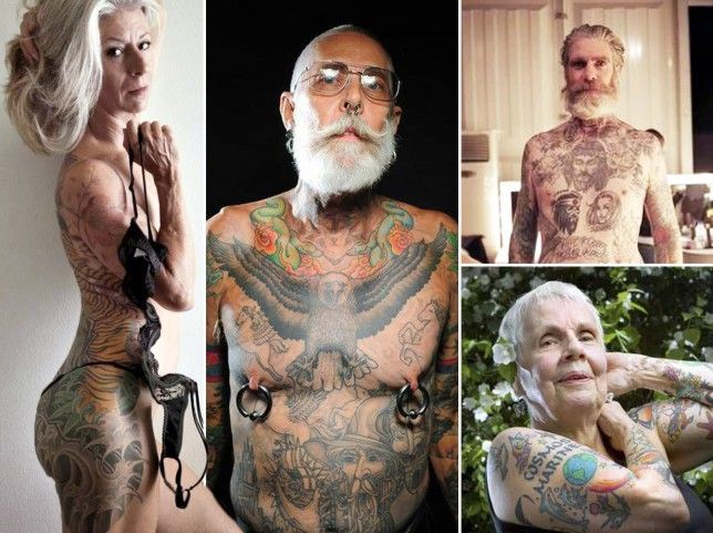 tattoos Old person with