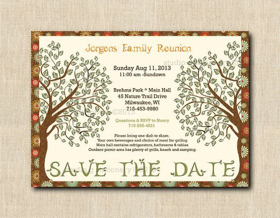 25+ Family Reunion Invitation Templates - Free PSD Invitations - invitation template nature