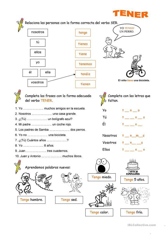 Spaanse En TenerEspañol Leren Verbo LesSpaans 0O8yvNnwm