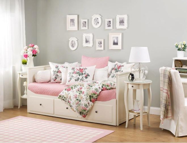Ikea Daybed... Like The Table, Lamps, And