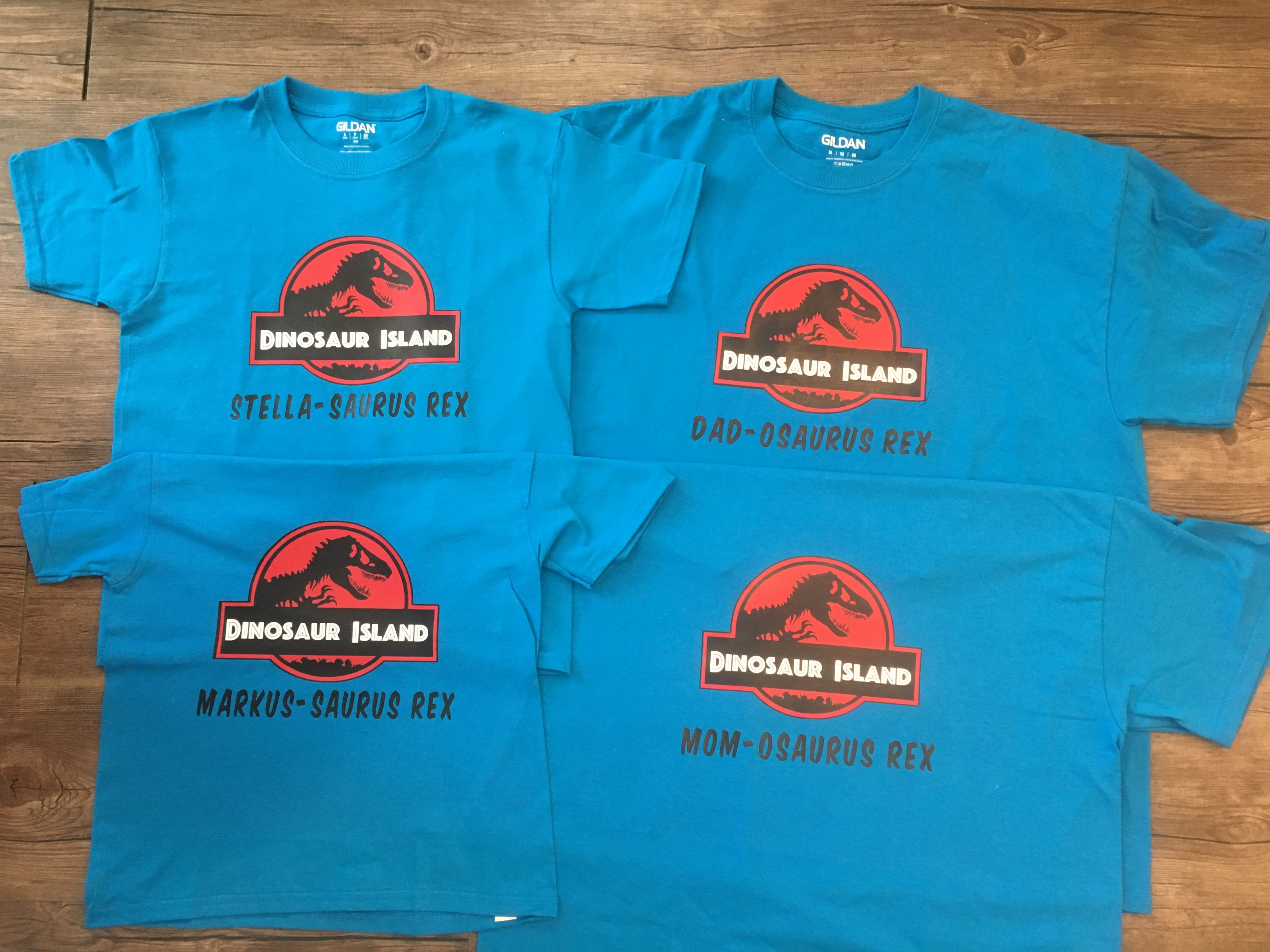 8705cedc0 Jurassic Park inspired family shirts for universal studios vacation.  Dinosaur Island!