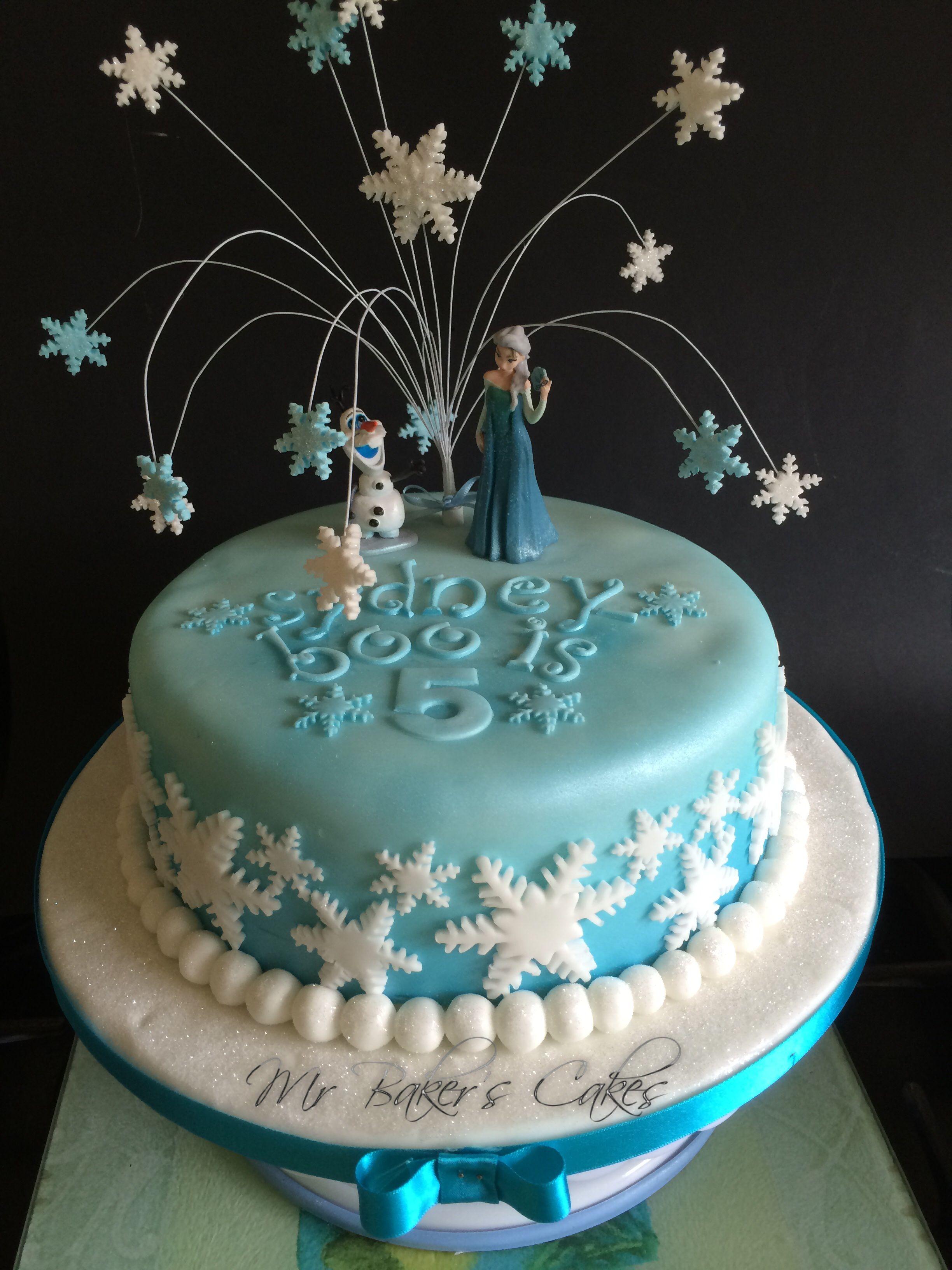Frozen single tier cake 3th Sophias birthday Pinterest Single