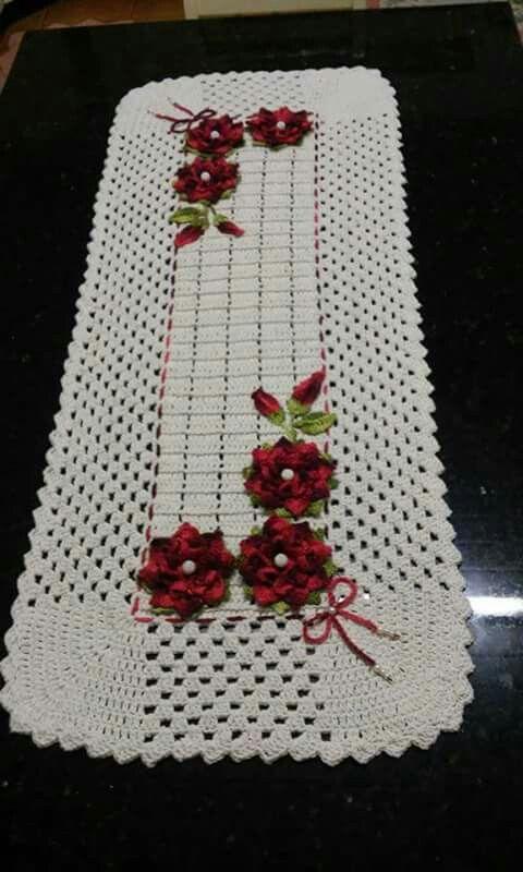 Meu Art Passadeira Pinterest Crochet Crochet Table Runner And