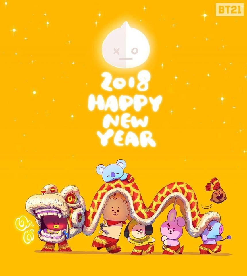 HAPPY LUNAR NEW YEAR BT21 trong 2020 Scouting, Sư tử và