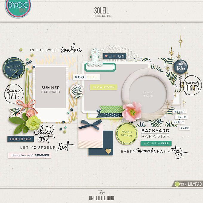 Soleil | Digital Scrapbooking Elements | One Little Bird