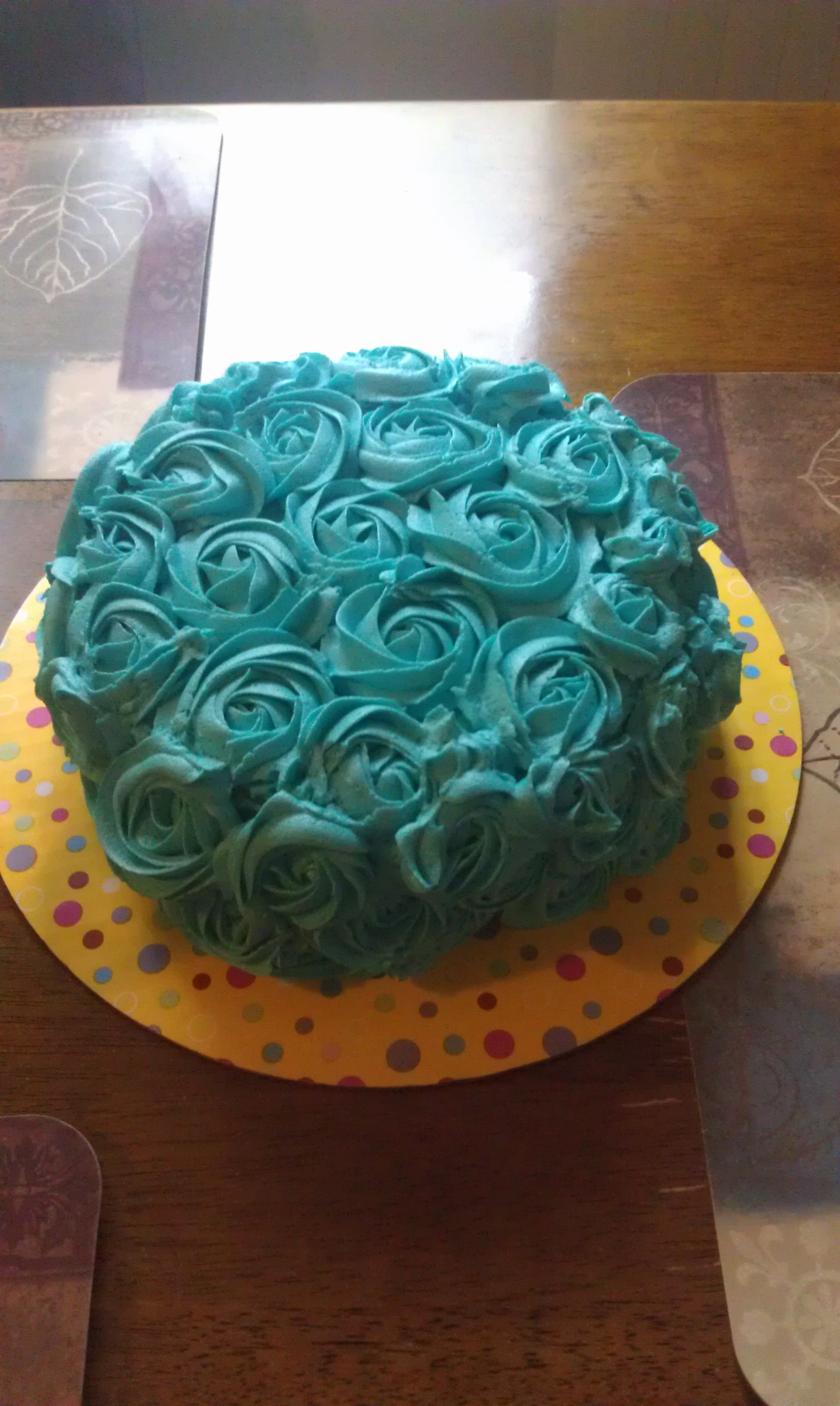 20th Birthday Cake for my daughter with 20 on top 20th birthday
