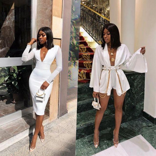 #StyleEbony: Os looks brancos e sensuais de Marii