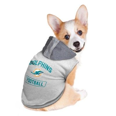 new concept 8dbf9 0a33f NFL Miami Dolphins Pet Hooded Crewneck Shirt - Large ...