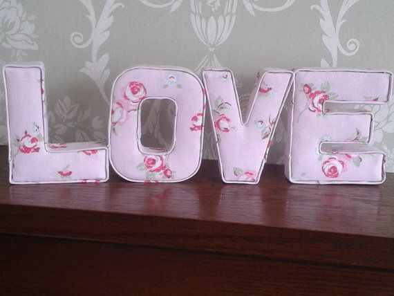 Fabric mini letters, 3D wall art, ideal for girls/boys nursery or ...