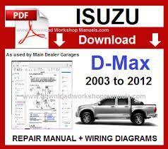 Isuzu D Max 2003 to 2012 workshop manual & Wiring Diagrams ...
