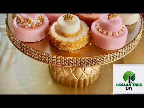 91110a180f3 (77) Dollar Tree DIY Cake or Treat Stand   Baby Shower Edition Part 1 -  YouTube
