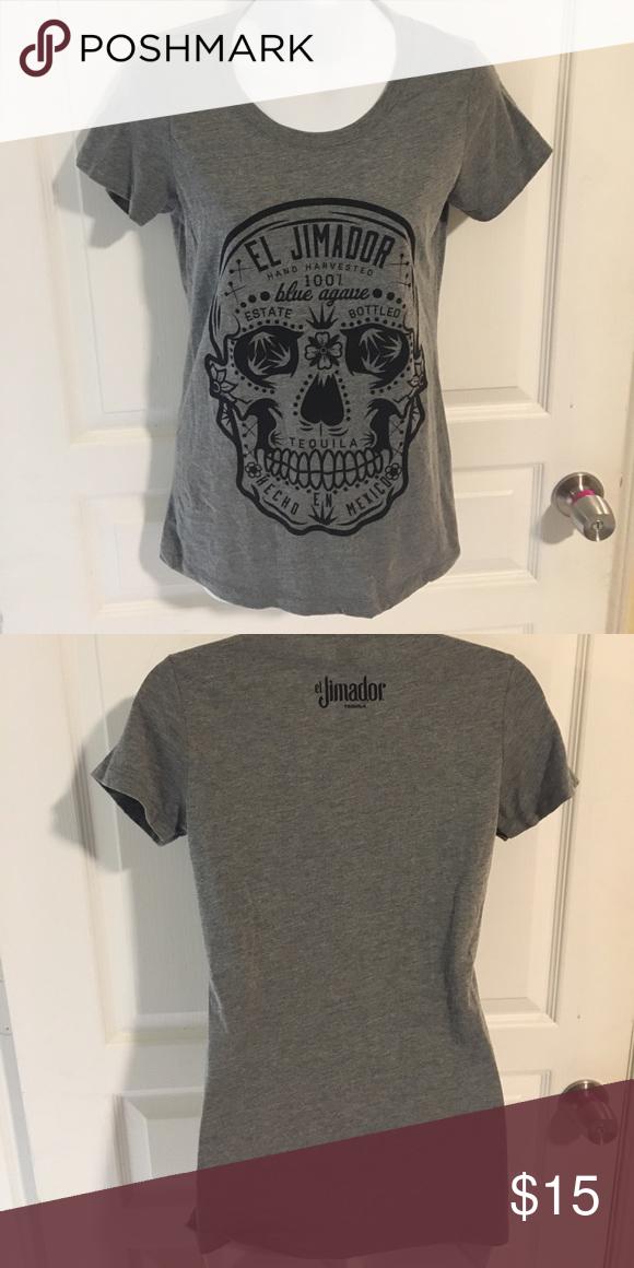 103553788ef El Jimador sugar skull medium tshirt El jimador tequila medium tshirt. Has sugar  skull on it and is very soft!! Never worn Tops Tees - Short Sleeve
