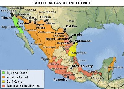 Cartels In Mexico Map.Borderland Beat Maps Of The Mexico Cartels Cartel Map Mexico