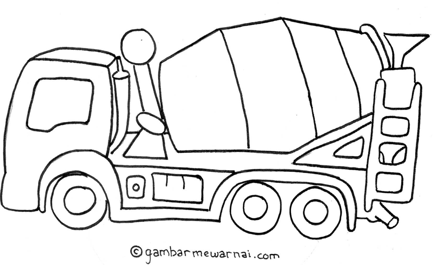 Belajar Mewarnai Gambar Mobil Molen  gajebo  Gambar