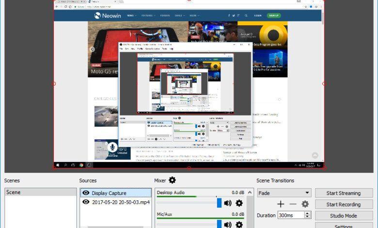 تحميل برنامج Obs Studio 26 0 0 اصدار 2020 نسخه مجانيه Desktop Screenshot
