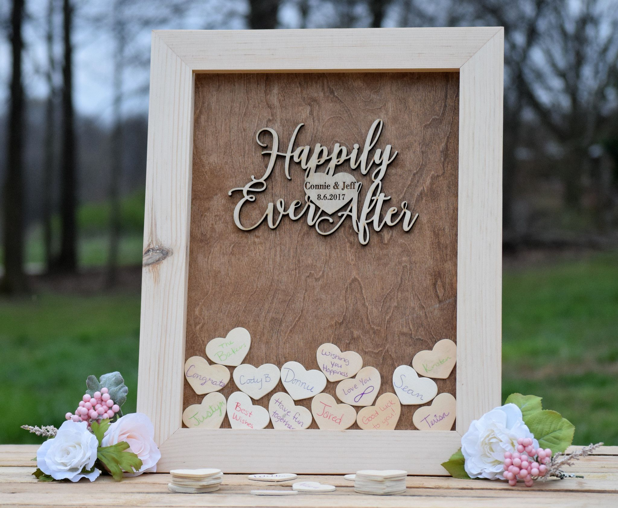 Heart Drop Wedding Guest Book Alternative in 2019
