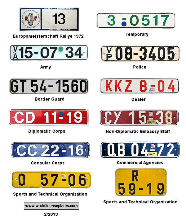 Images Of Europe Registration Plates License Plates Of East