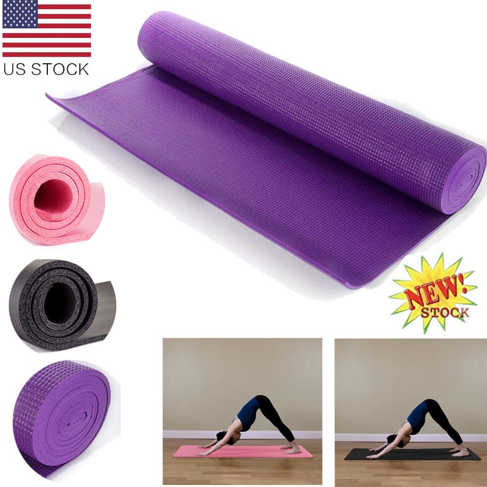 YOGA MAT FOR PILATES GYM EXERCISE YOGA  EXERCISE GYMNASTIC MAT THICK PHYSIO MAT