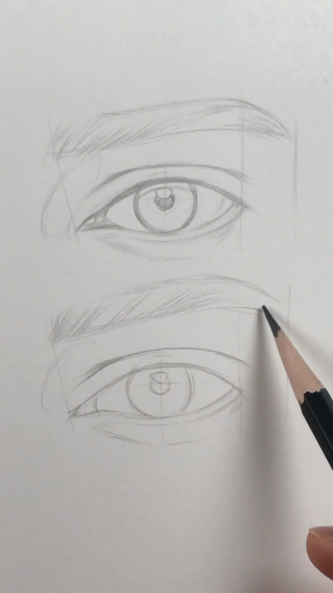 Photo of How I draw an eye. Basic lines.