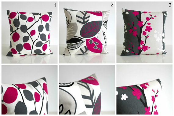 Pink And Grey Pillow Cover Pillowcase 10x10 Throw Pillow Etsy Grey Pillow Covers Grey Pillows Pillows