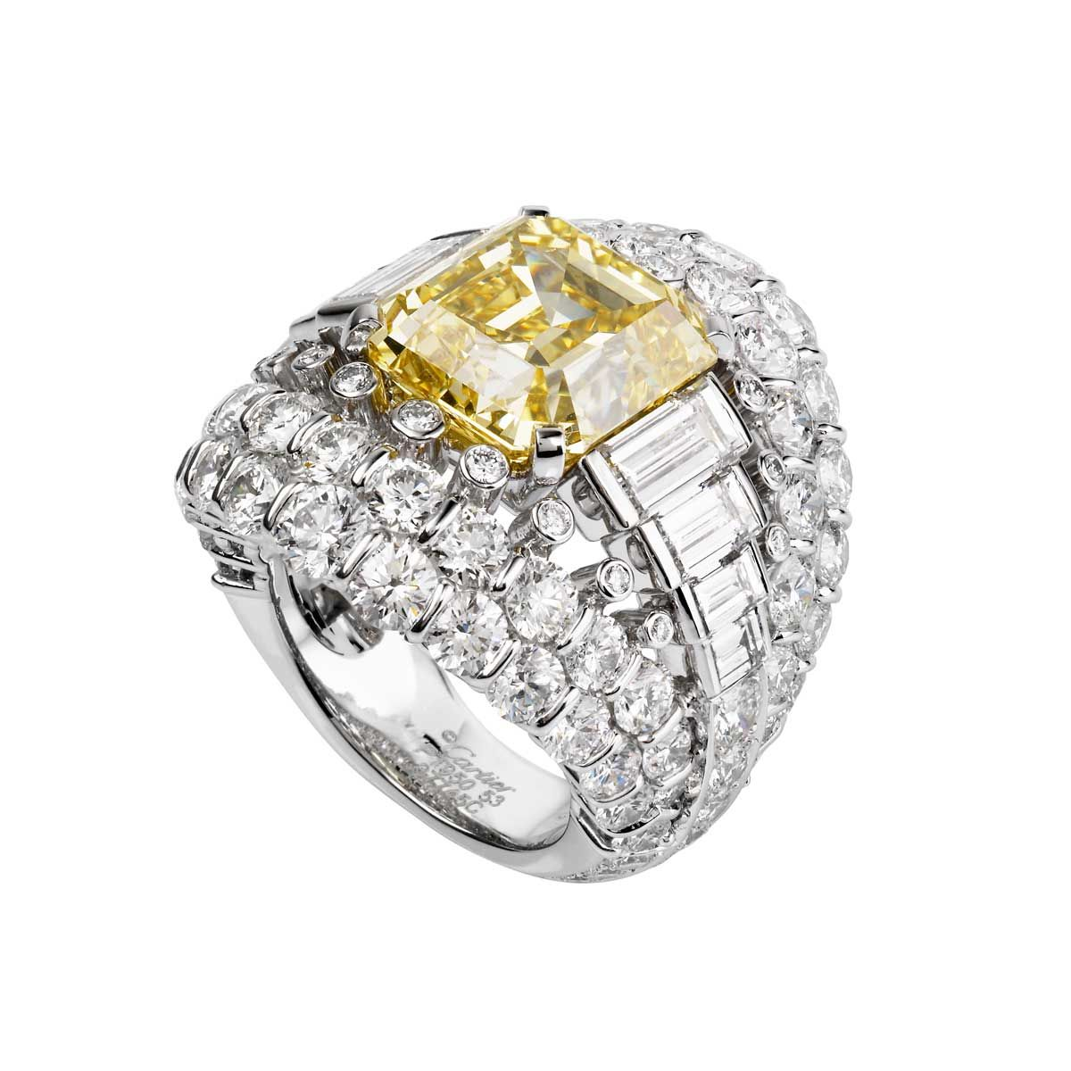 bague diamant jonquille