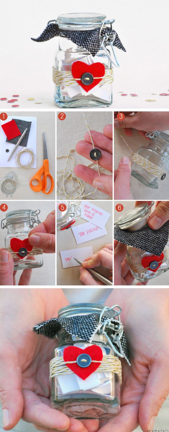 10 Things I Love About You Jar Diy Valentine Gifts For