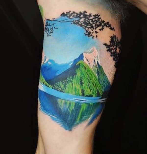 Landscape Design Software By Idea Spectrum: Detailed Colour Mountain Tattoo