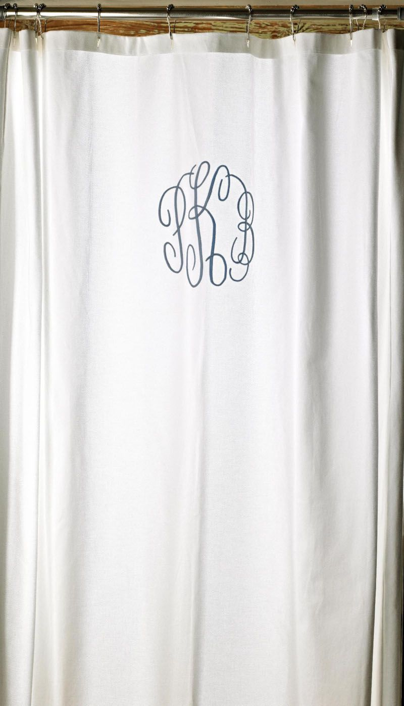 Monogrammed Shower Curtain Shower Curtain Monogram Traditional